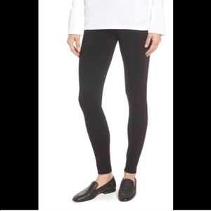 LYSSE Black Seamed High Waisted Casual LEGGINGS XS